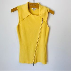 Cache gold collar zip top (S)
